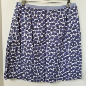 Boden Purple Circle Print A-Line Skirt - size 8